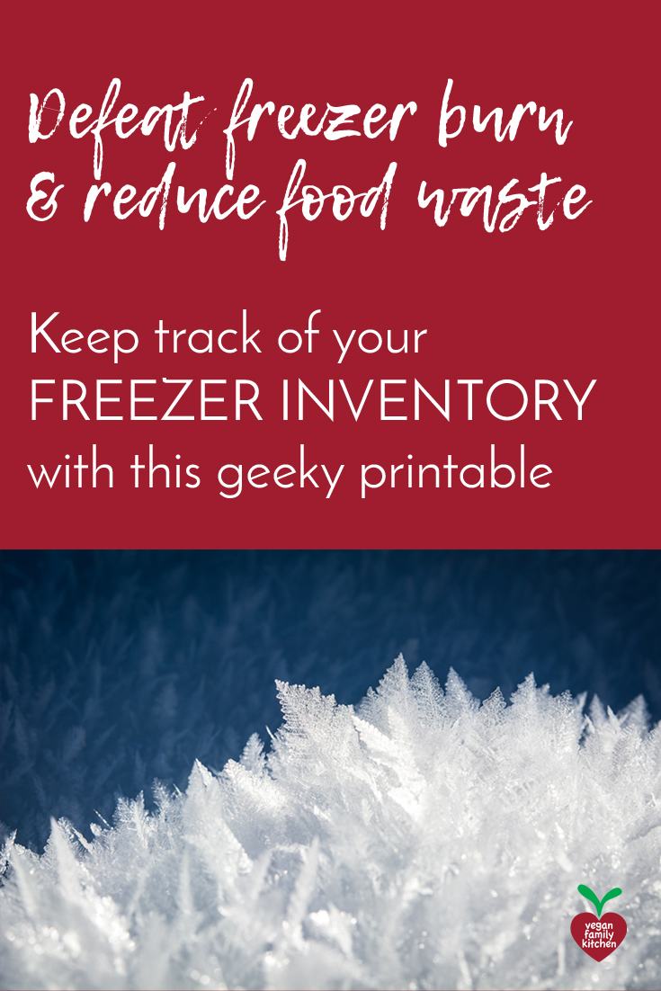 Prevent freezer burn with freezer inventory Pinterest