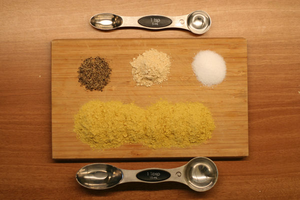 Vegan pesto dry ingredients