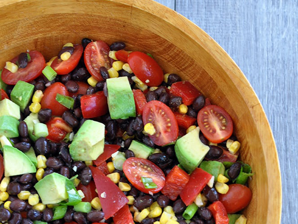 Vegan cooking for beginners Black Bean Corn Salad by My Whole Food Life
