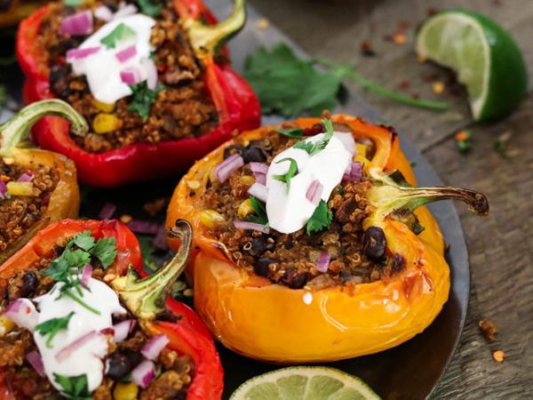 Vegan Cooking for Beginners Vegan Huggs Quinoa Stuffed Peppers