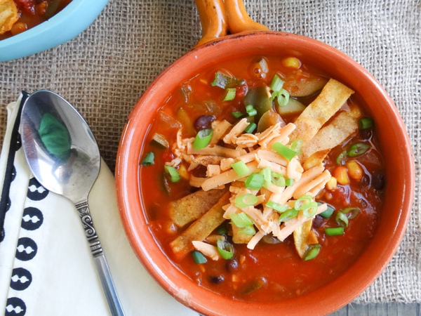 Vegan cooking for beginners - Tortilla soup by Sharon Palmer