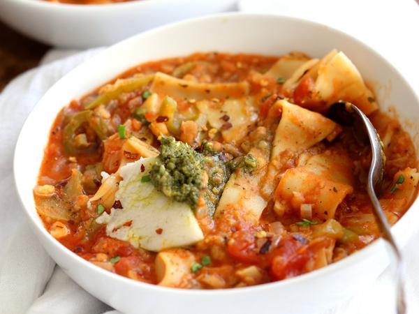 Vegan cooking for beginners - Instant Pot Lasagna Soup by Vegan Richa