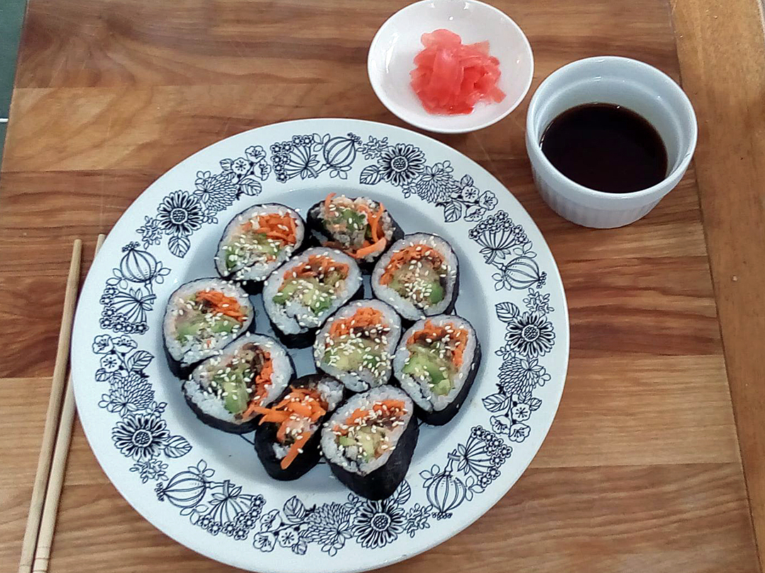 vegan dads who cook - sushi