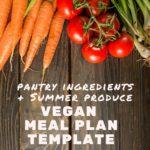 Summer vegan meal plan template pinterest