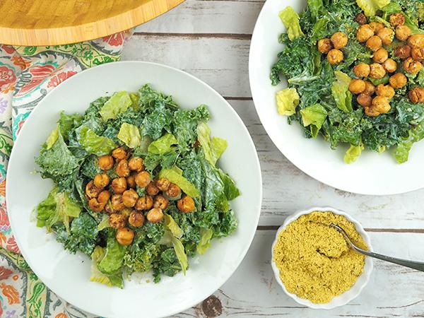 How to eat more greens Dianne's Vegan Kitchen's Kale Caesar Salad
