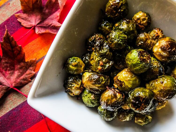 How to eat more greens - Fragrant Vanilla - Sweet and spicy roasted Brussels sprouts