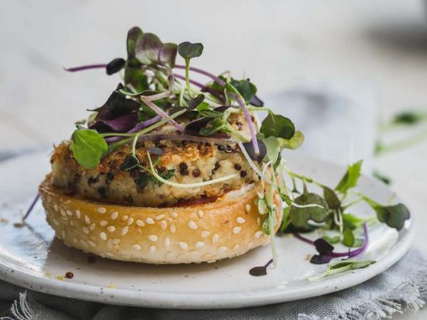 How to eat more greens - My Goodness Kitchen's Cauliflower Quinoa Burger