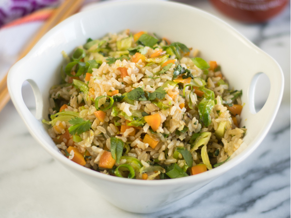 How to eat more greens - Thyme and Love - Brussels Sprout Fried Rice