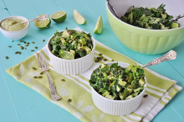 How to eat more greens - Veganosity's green garden salad