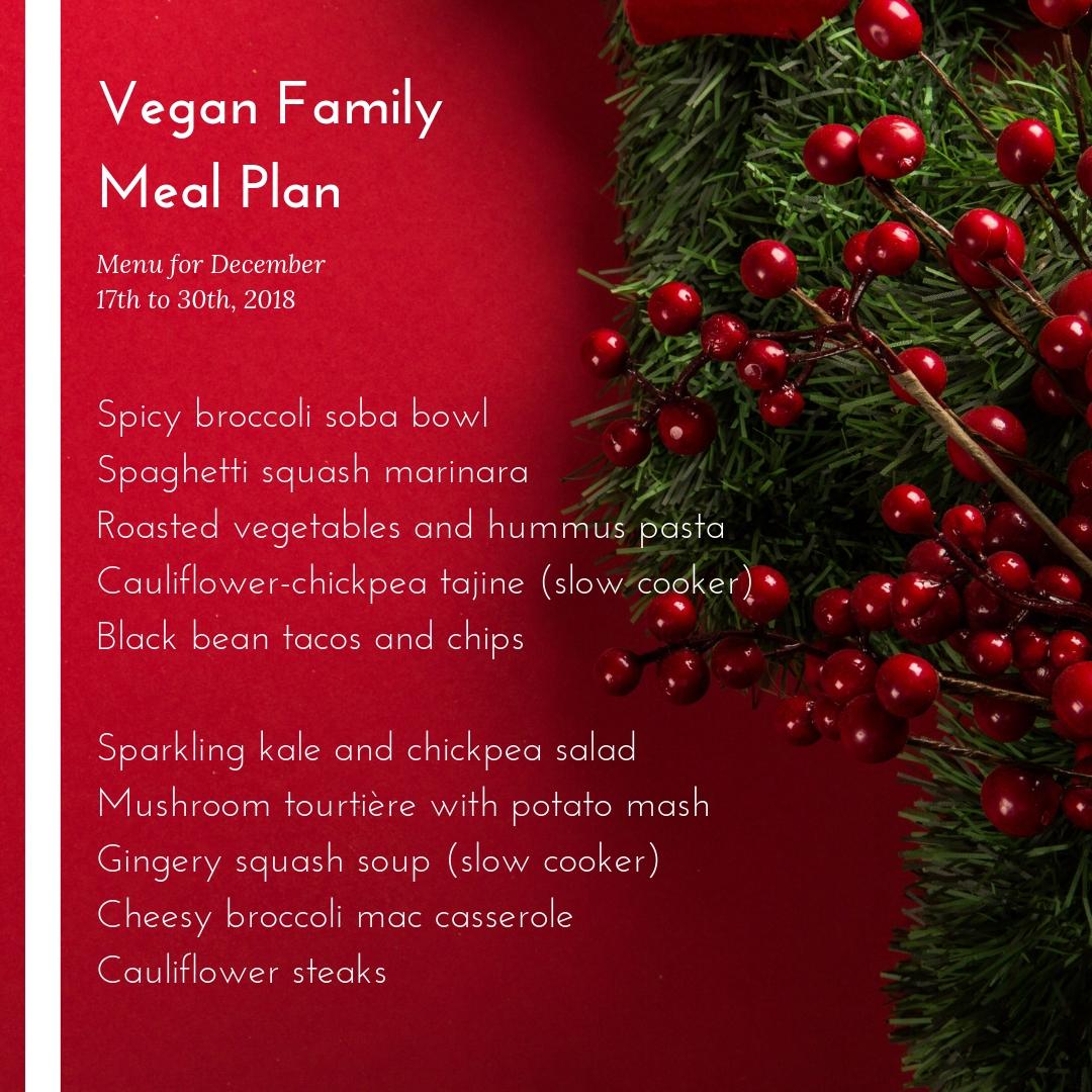 vegan family meal plan