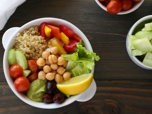 Vegan batch cooking recipes My plant-based family Mediterranean bowl