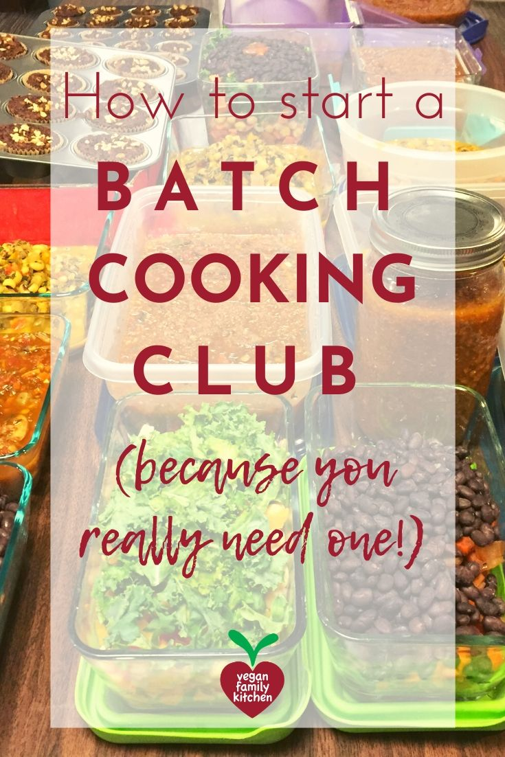 How to start a batch cooking club - Pinterest