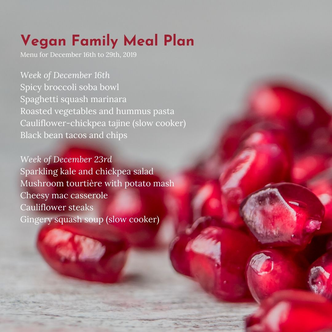 vegan family meal plan