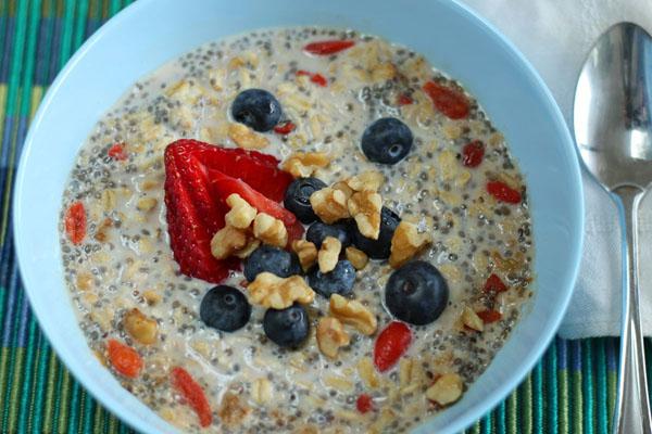 Vegan overnight oats batch prep