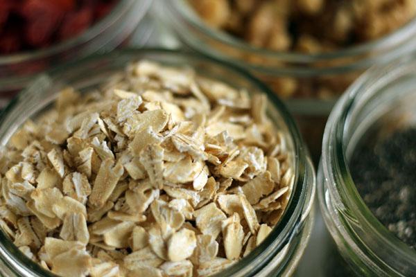 Vegan overnight oats - Batch prep - Focus on oats