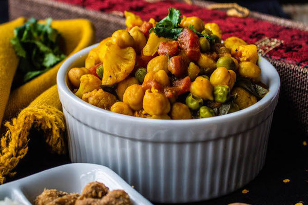 Vegan pantry cooking recipes and tips from bloggers - Bad to the Bowl - Chickpea curry