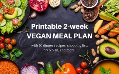 Your next 10 dinners covered: free vegan meal plan for 2 weeks!