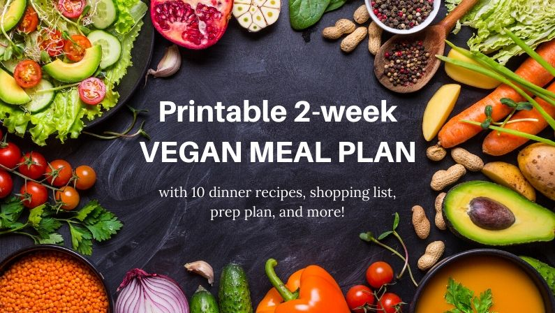 free vegan meal plan for 2 weeks of better dinners