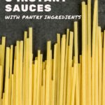 instant sauces for quick vegan pasta dish - pinterest