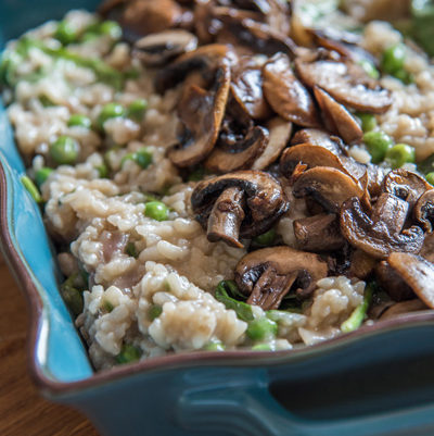 How to make vegan risotto in the oven: Method and recipes for Lazy pea mushroom risotto