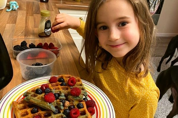 Vegan meal prep for health - Katie heals her gut - Daughter with WFPB waffles