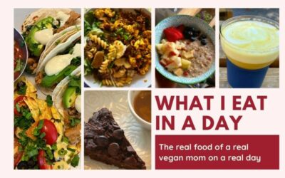 What I eat in a day as a vegan – Real honest food report from a plant-based mom