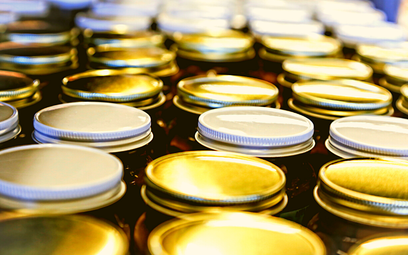 Jar tops - Plant-based pantry organization
